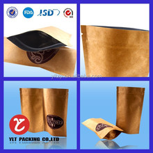 China hot new product Stand Up zipper Brown Kraft Paper Bag For Food