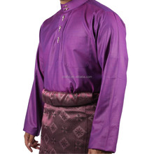 Muslim cheap price royal button with butang keris thobe baju melayu jubah, malaysia muslim wear traditional thobe