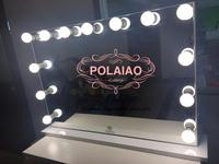 POLAIAO Luxury Large Size Studio Lighted Makeup Mirror with Built-in Bluetooth Speaker and Double USB Socket and Dimmer