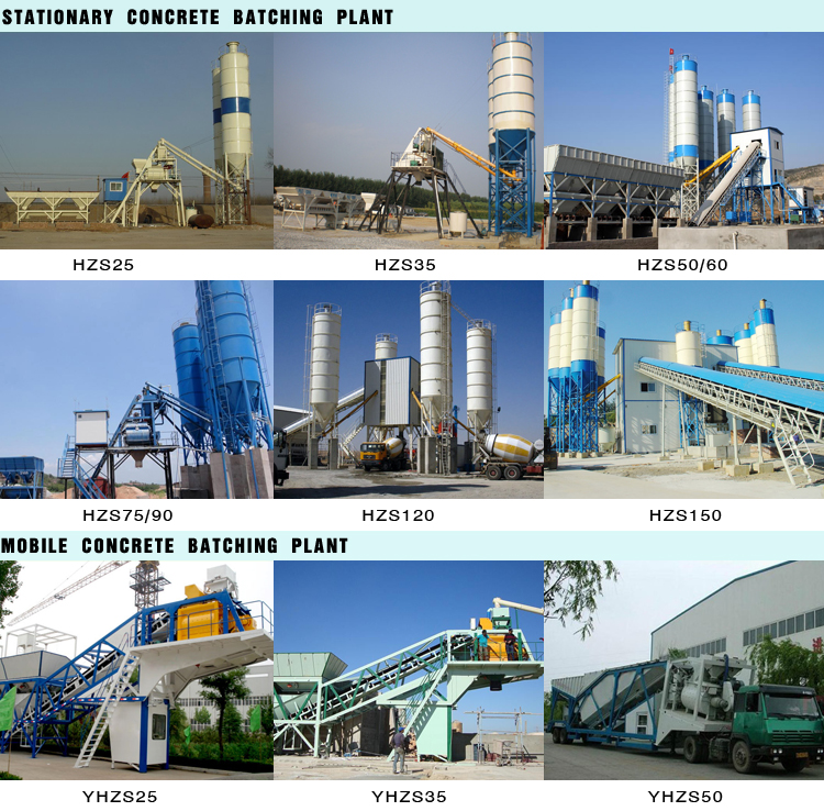 Factory price industrial medium capacity hzs60 concrete batch plant