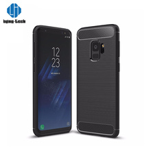 Professional design anti shock carbon fiber plastic cases for galaxy s9+2018 factory soft tpu case for samsung s9+s line tpu cas