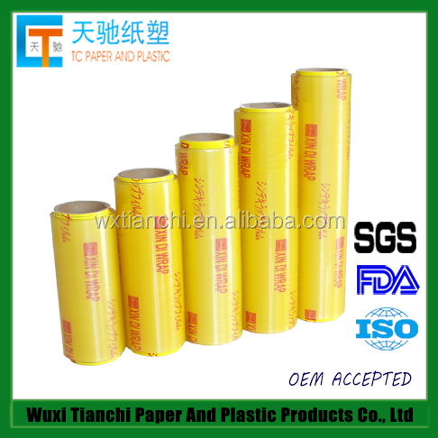 Tianchi PVC Wrap Film Clear Cling Films For Fresh Food No Plasticizer