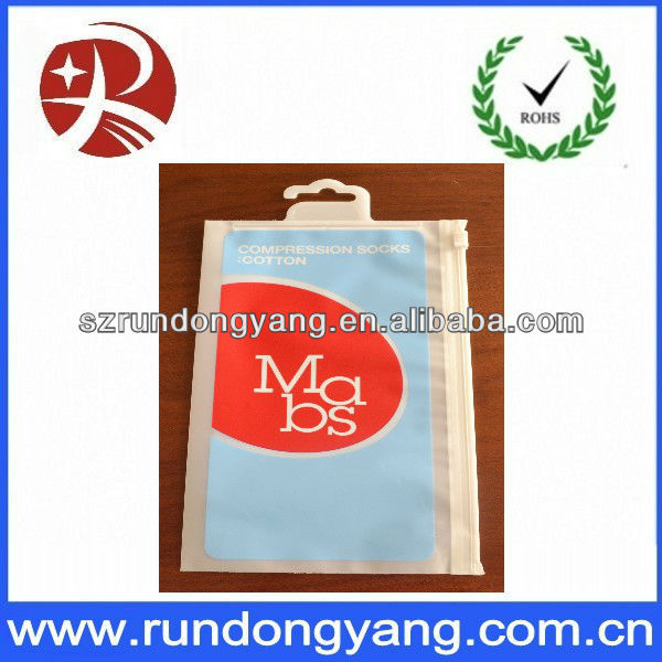 Custom vivid printing zipper plastic underwear bag