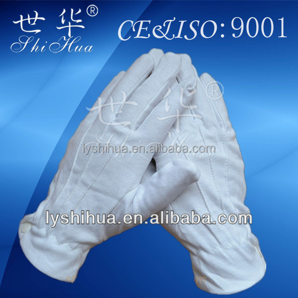 100% white cotton parade glove