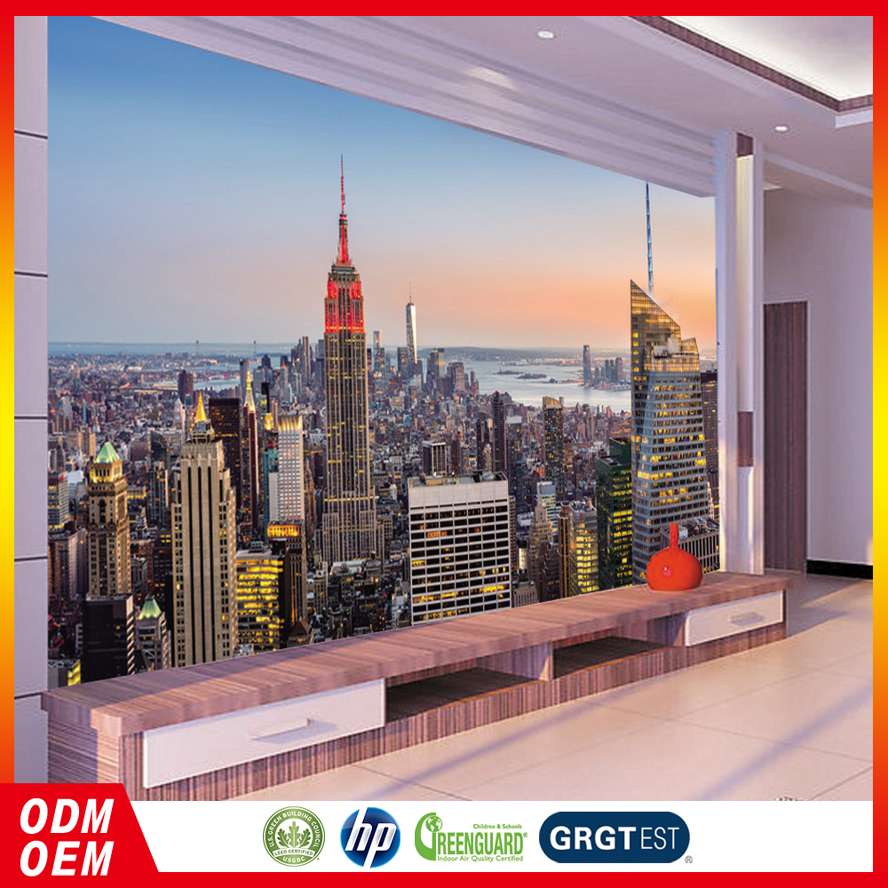 New York City modern design digital printing silk wallpaper for Commerce