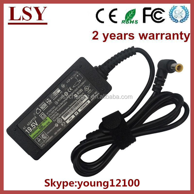 mini ac charger for Sony laptop charger 19.5V 2A 40W
