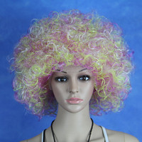 MY-QM-0006 Fashion Football Fans Supporter Supplies Afro Wig Fancy Dress Costume Brand New