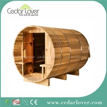Best quality cedar outdoor sauna portable fanmily sauna room for sale