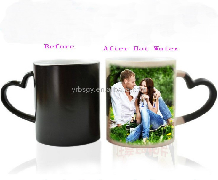 Cheap Promotional Business Gigt 11Oz Sublimation Heat Color Changing Mug,Premium Gift