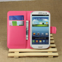 PU Leather Wallet Mobile Phone Case For Samsung Galaxy S3