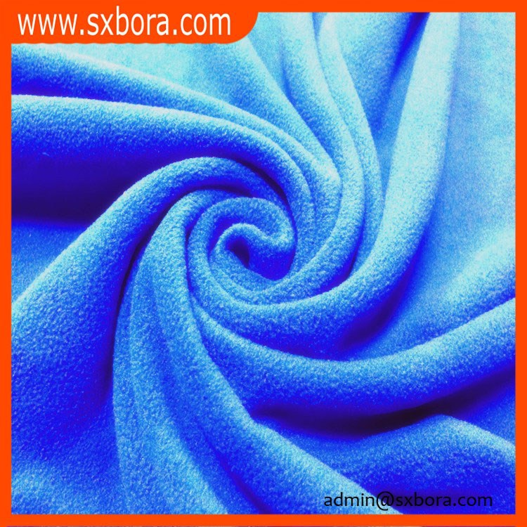 100% polyester micro custom fleece fabric beach print wholesale