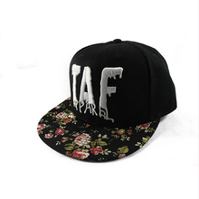 Wholesale top quality Snapback with flower brim