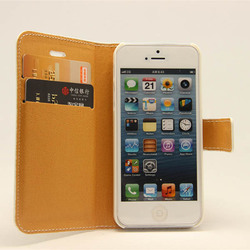 Fashion women wallet cross stitch leather case for iphone 5 2013