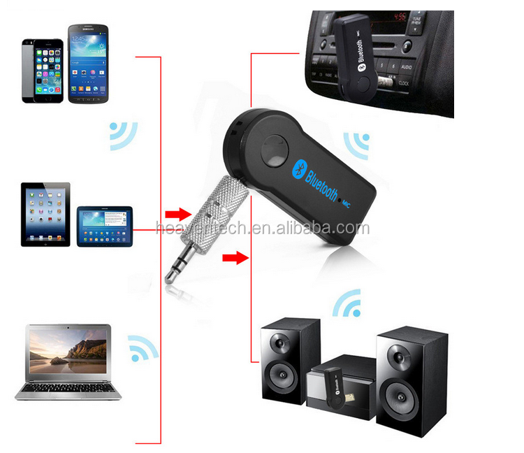 AliBaba China Wholesale handsfree car kit Bluetooth Handfrees Car Kit for 3.5mm Stereo Output bluetooth audio music receiver