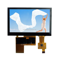 4.3 inch tft lcd module with capactive touch screen, OA size 105.5x67.2x4.45 mm