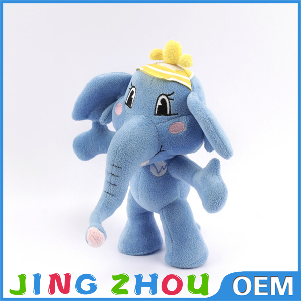 OEM Plush Mascot ,Blue Soft Elephant, Custom Plush Mascot Elephant