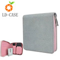 Detachable Canvas with PU Leather Wallet Zipper Case for IQOS