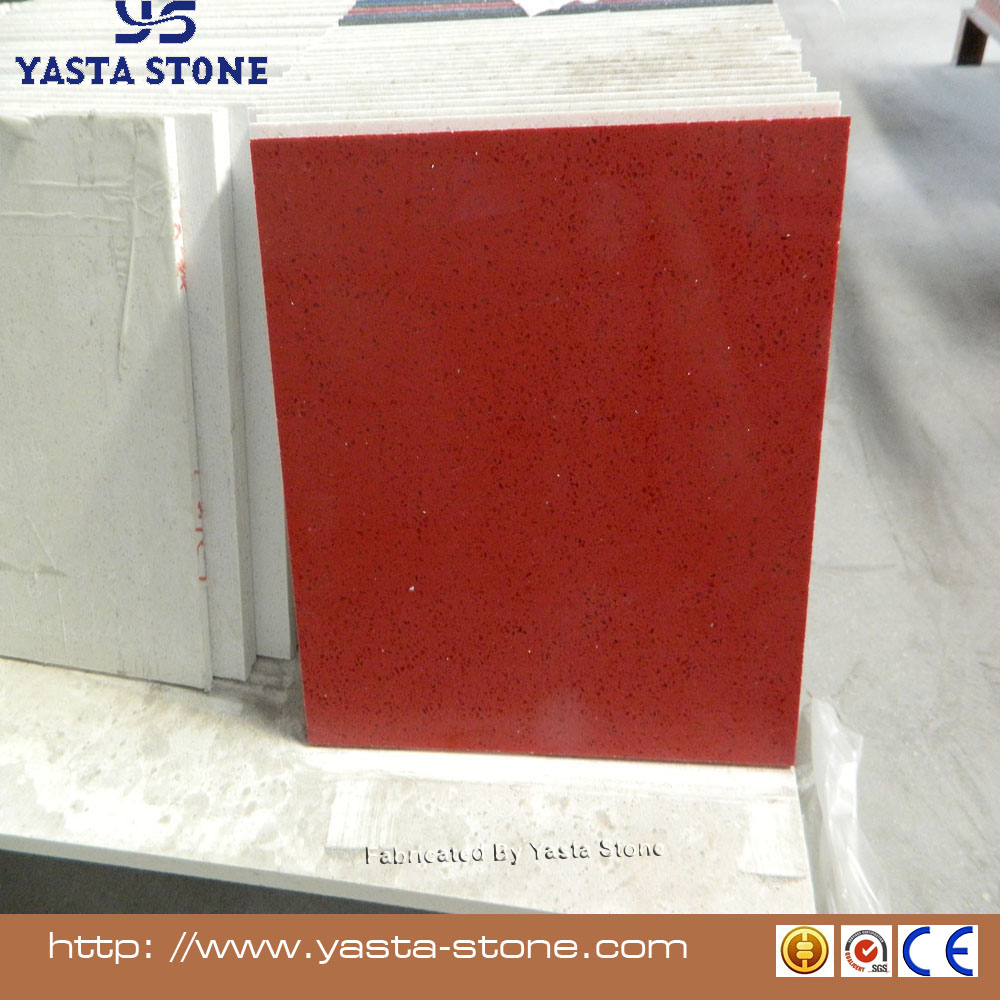 Yasta Polished red quartz stone tile for kitchen countertops