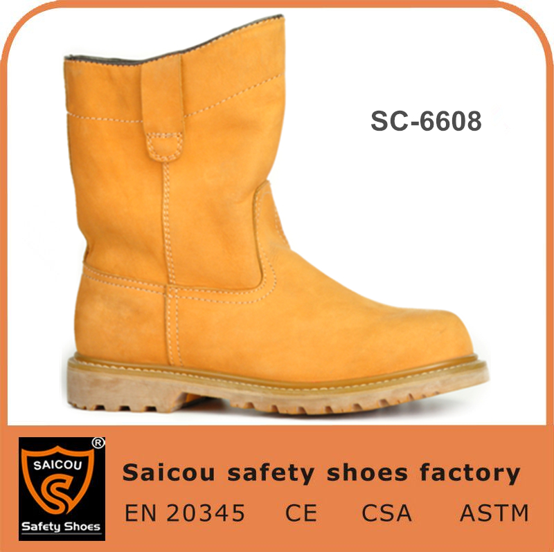 2016 hot neoprene safety boots factory and no lace safety shoes and eva rubber slipper boots SC-6608