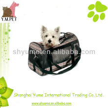 Checked Pattern Pet Carrier Bag Outdoor Accessory