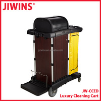 Hospital Cleaning Service Trolley Cart With Lockable Cabinet
