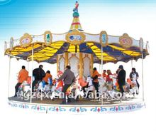 Luxury 16-seat musical amusement carrousel