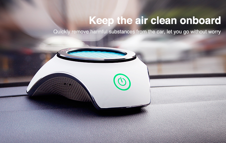 Hot and New BMN168 Car air purifier with Activated carbon and Antibacterial medical grade HEPA, Activated carbon air filter