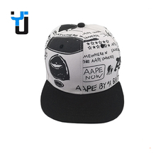 Fashionable newspaper style printing wholesale design snapback hat