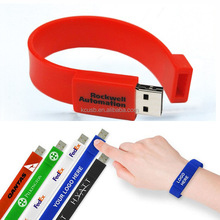 Events promotion silicon bracelet usb flash drive 8 gb with logo pendrive wrist band