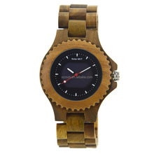 OEM Solar wooden watches with images can be offered for online shopping