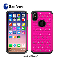 Hot New High Quality Shockproof PC Silicone Cover Case For Iphone 8 Cellphone Case