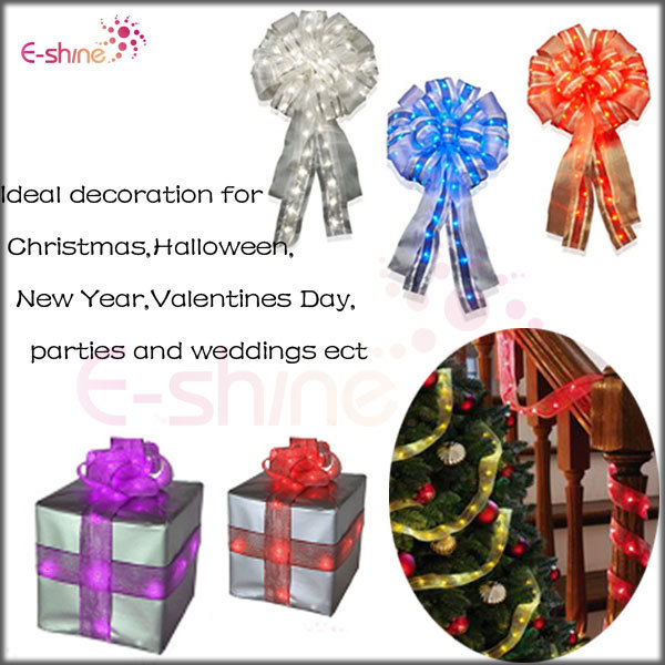 2014 New Product Red Christmas Indoor Ribbon Light String
