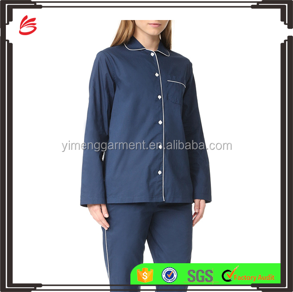 Wholesale Long Sleeve summer Women Cotton Pajama Set
