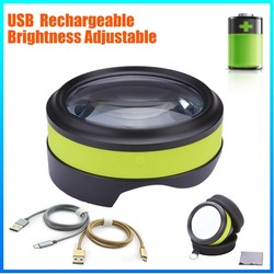 DH-86016 usb rechargeable lamp magnifier led magnifying glass