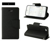 Leather card holder case flip cover for sony xperia m