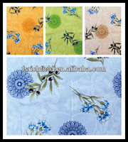 pvc tablecloth with non-woven backing colorful