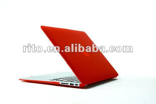 "New Waterproof & Shockproof Classic Red Color Matte Hard Case for Mac Air 13"", OEM is Preferred"