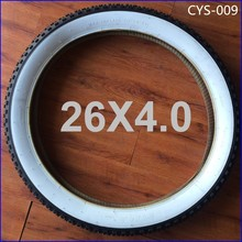Bicycle Tire Factory 26X4.0 White Color Wall Cycle Tyres