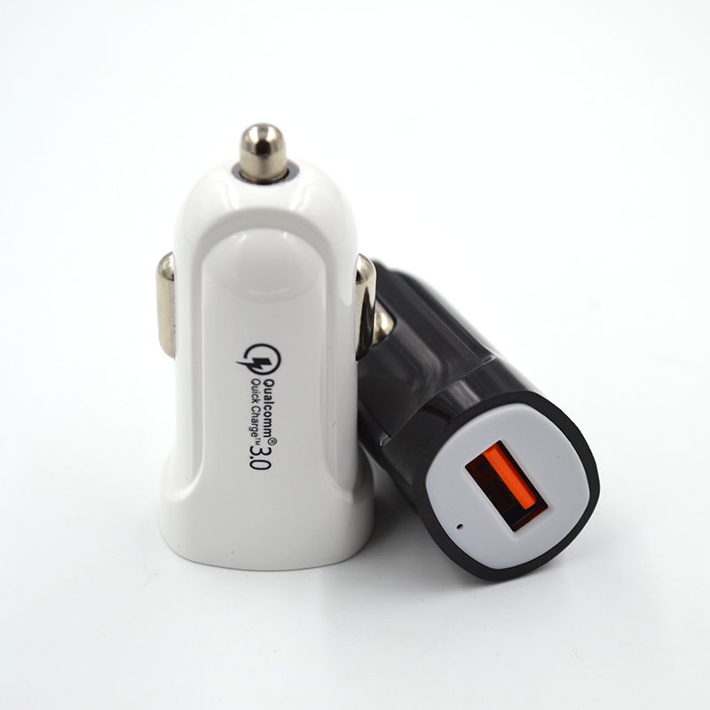 Hot selling portable mobile phone single usb QC3.0 Car Charger