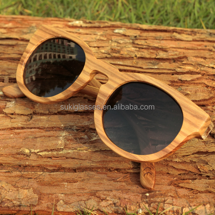 wooden <strong>bamboo</strong> round sun glasses eyewear