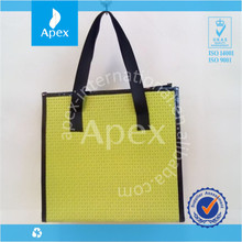 wholesale natural pp woven square bottom bag