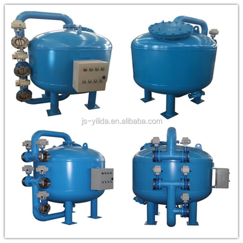 Automatic backwash shallow sand filter by pass filtration