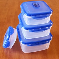 Stackable&Nestable vacuum plastic airtight container with locking lids