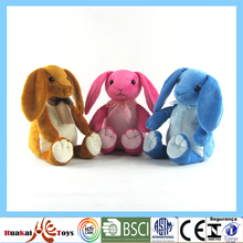 High quality rabbit type three colors plush material customized mini bunny for baby