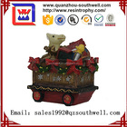 Resin Christmas Decorative Gift Car Statue For Sale