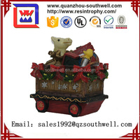 Resin Christmas Decorative Gift Car Statue