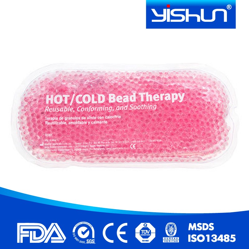 soft ice beads hot cold pack,waist crystal gel beads hot cold pack ,reusable microwavable gel hot cold pack