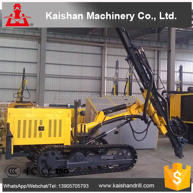 "KY130 latest style high quality mine drilling rig 8 1/2"" hard rock drilling tricone bit semi-hydraulic DTH drill"