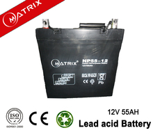 Good solar Panel Battery 12V 55AH shenzhen matrix battery co. ltd.