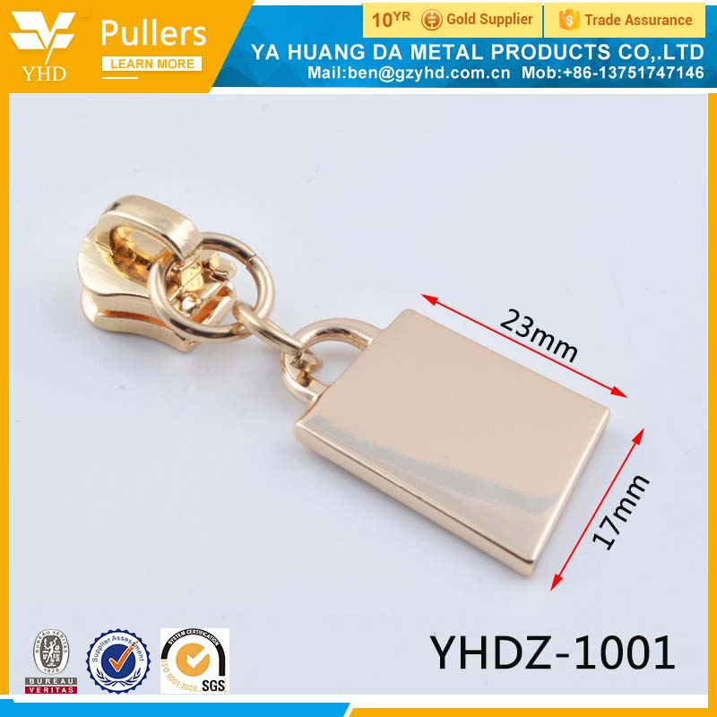 custom zinc alloy handbag zipper slider